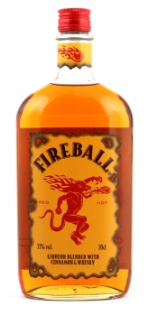 Fireball Likör Blended With Cinnamon & Whisky (1 x 0.7 l) 33% vol.